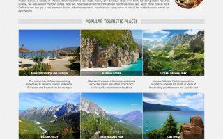 Krijim Website (albaniatravel homepage)